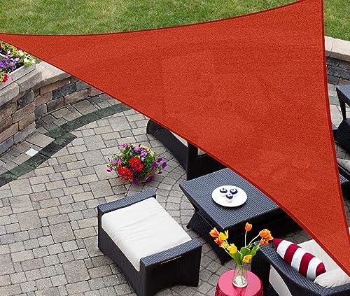 AsterOutdoor Sun Shade Sail Triangle 16' x 16' x 22.64' UV Block Canopy for Patio Backyard Lawn Garden Outdoor Activi...