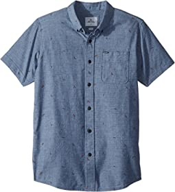 Rip Curl Kids Northern Short Sleeve Shirt (Big Kids)