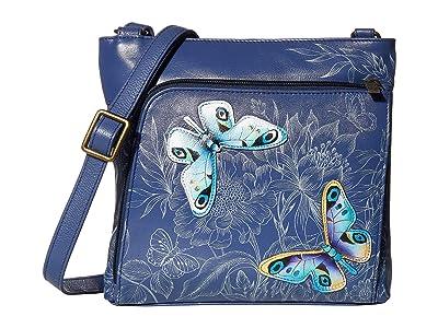 Anuschka Handbags Crossbody with Front RFID Built in Wallet 651 (Garden of Delights) Cross Body Handbags