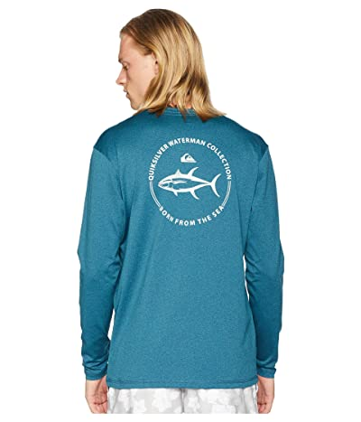 Quiksilver Waterman Watermark Long Sleeve Rashguard (Orion Blue Heather) Men