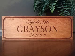 personalized wood family signs