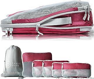 TRAVEL DUDE Organizador de Maletas con Bolsas de Compresión para Equipaje   Bolsas Organizadoras Maleta   Easy Travel   Ul...