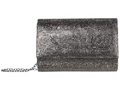 Jessica McClintock Alexis Sparkle Clutch (Gunmetal) Clutch Handbags