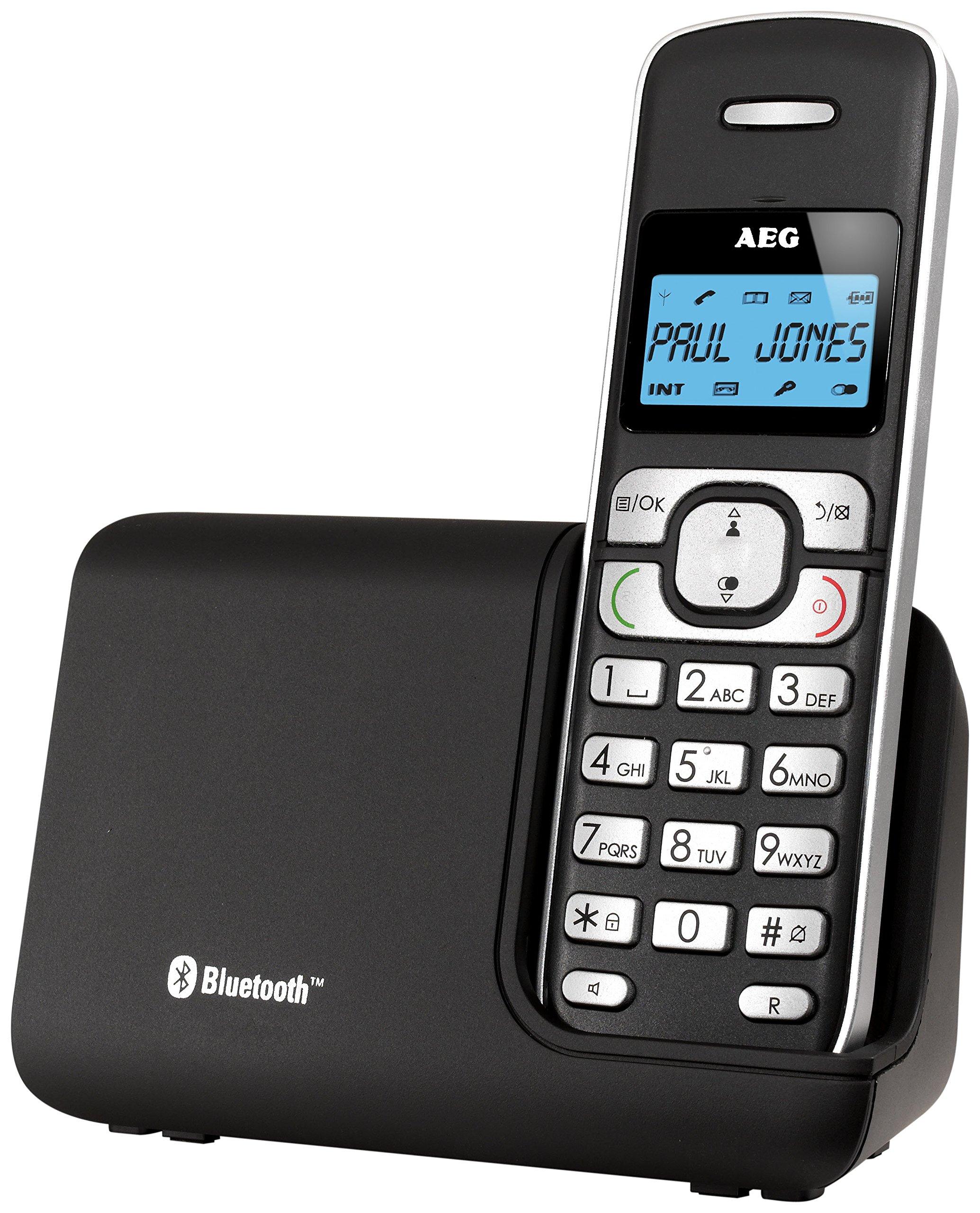 AEG Voxtel D220BT - Teléfono inalámbrico DECT (Gap, Bluetooth, Agenda para 50 contactos) Color Negro: AEG: Amazon.es: Electrónica