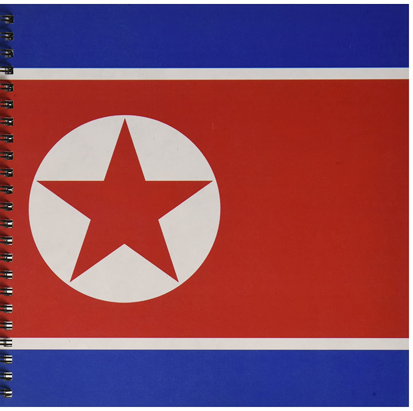3dRose db_158398_1 Flag of North Korea Drawing Book, 8 by 8-Inch
