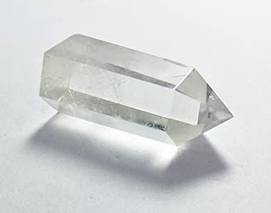Healing Stone Wand of Clear Quartz Crystal Pointed & Faceted Prism Bar for Reiki Chakra Meditation Therapy Deco