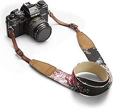 BESTTRENDY Universal Camera Neck Shoulder Strap, Casual Vintage Neck Shoulder Camera Belt for All DSLR Camera Nikon/Canon/Sony/Olympus/Samsung/Pentax ETC/Olympus (Black+Flower)