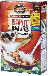 Nature's Path EnviroKidz Peanut Butter & Chocolate Leapin' Lemurs Cereal, Healthy, Organic, Gluten-Free, 10 Ounce Box
