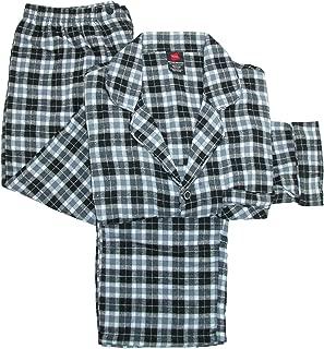Men's Long Sleeve Flannel Pajama Sleep Top & Pant Set