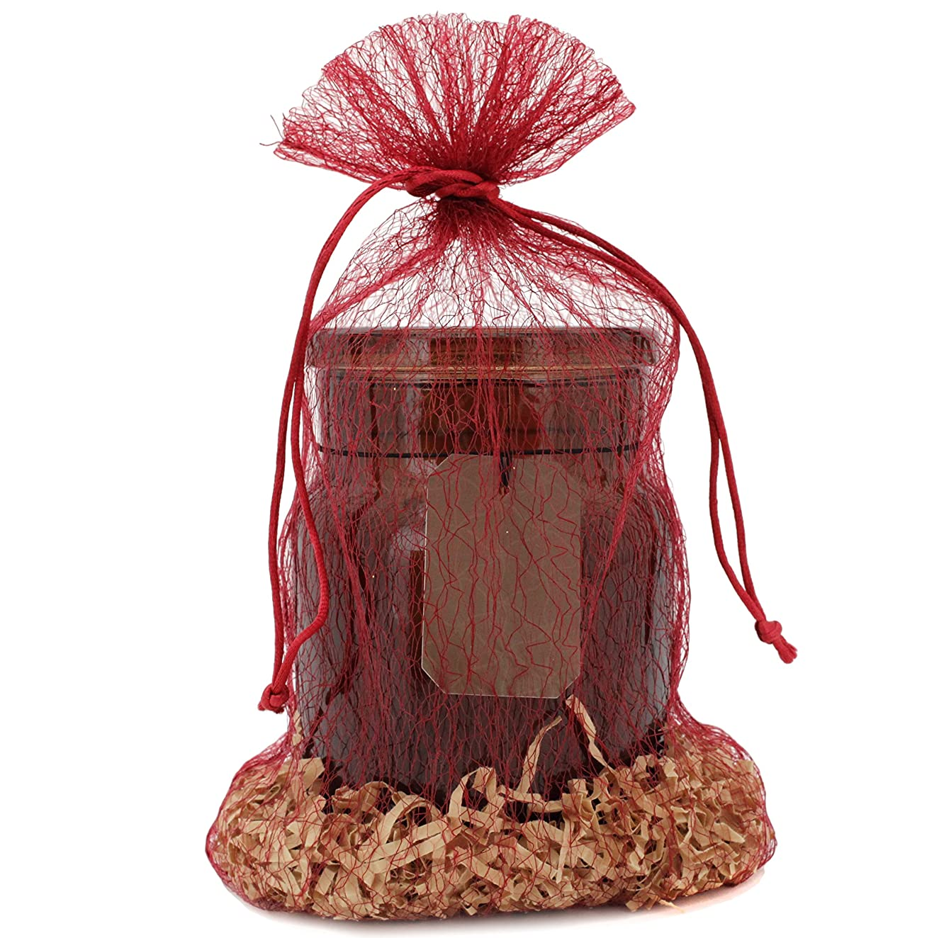 30 Organza Fabric Gift Bags Pouches Party Favor Goody Gift Bags (12 x 7, Burgandy)