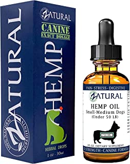 Hemp Oil for Dogs - Hemp Seed Oil - All Natural Support for Joints, Stress, Anxiety, and More