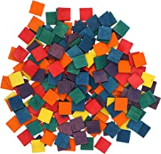 Bright Creations Colored Craft Mini Wood Tile Squares (200 Count)