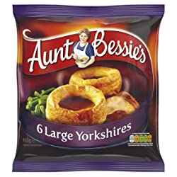 Aunt Bessie's 6 Large Yorkshire Puddings, 165g (Frozen)