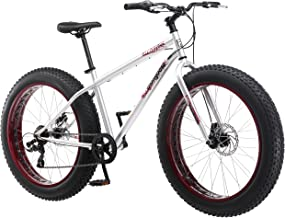 Mongoose Malus Fat Tire Bike with 26-Inch Wheels, with Steel Frame, 7-Speed Shimano..