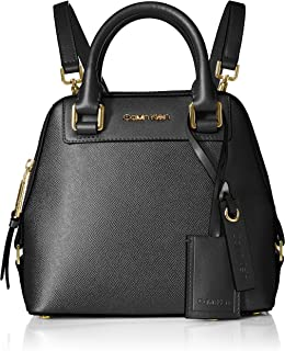 Calvin Klein Clara Stucco Leather Small Zip Around Backpack