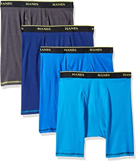 Men's 4-Pack Cool Comfort Breathable Mesh Long Leg Boxer...