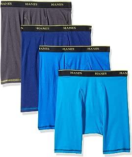 Men's 4-Pack Cool Comfort Breathable Mesh Long Leg Boxer Brief