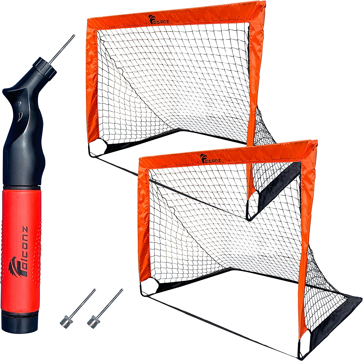 Elegant Falconz Soccer Net Set - 2 Backyard 1 Goals and Ball Free shipping anywhere in the nation for