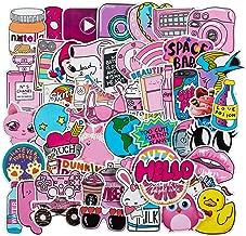 Cute Laptop Stickers for VSCO Girls[50PCS] - Pink Cartoon Sticker for Water Bottle Hydro Flask Macbook iPhone Phone Case iPad Bike Bumper Skateboard Luggage Bomb Waterproof DIY Decoration Gift Sticker