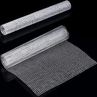 SATINIOR 2 Sheets Hardware Cloth Chicken Wire Net for Craft Work, Silver 1/4 Mesh Galvanized Welded Wire Metal Mesh, 13.7 ...