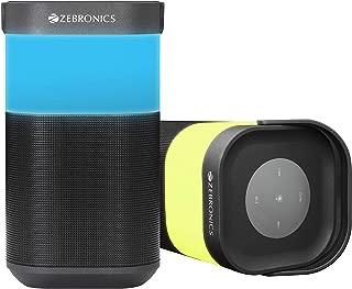 Zebronics Zeb-Prism Portable BT Speaker with Capactive Touch Controls, mSD, FM, AUX, Mic & RGB Lights