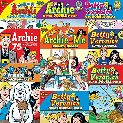 Archie Comics Digest Value Pack Includes 10 Books Toys Games