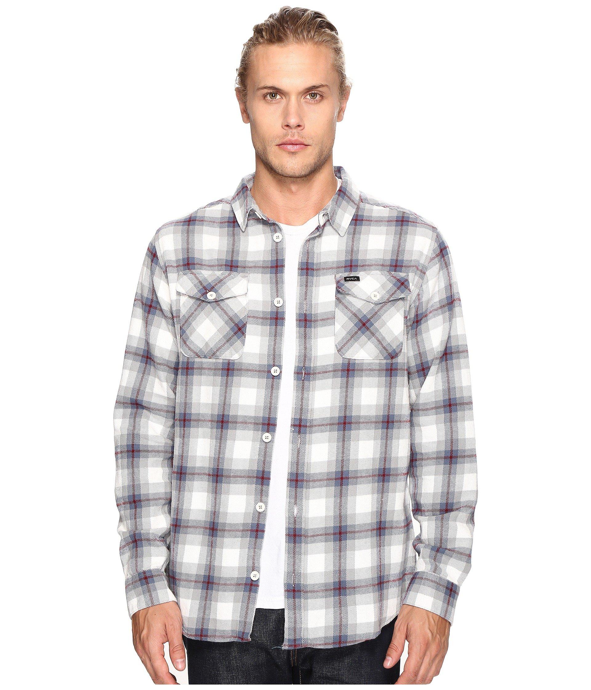 RVCA Men's Thatll Work Long Sleeve Flannel Shirt