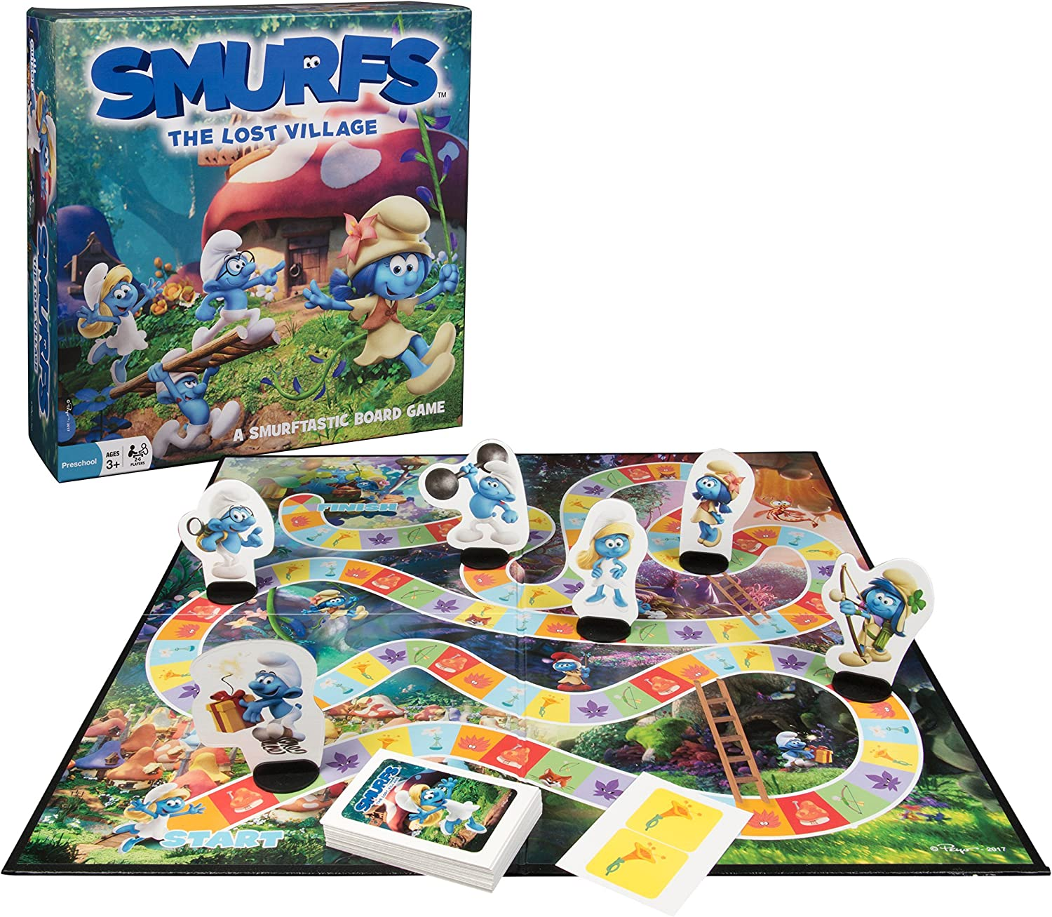 Outset Media Smurfs The Lost Village Board Game  Fun Filled Game Of Chance and Adventure For the Whole Family  No Reading Required (Ages 3+)