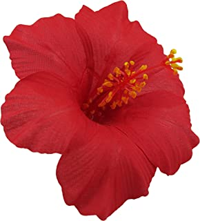 red hibiscus hair accessory