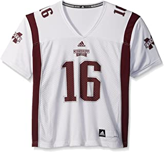 adidas Adult Women NCAA Replica Football Jersey, Large, White, Mississippi State Bulldogs