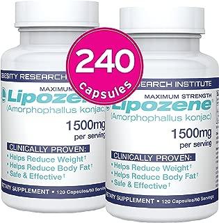 Lipozene Weight Loss Pills (2 Bottles / 120 Count Mega Bottle Bundle)