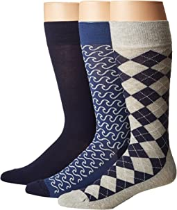Cole Haan - 3-Pack Surf/Argyle Crew