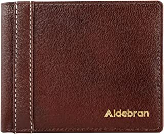 Aldebran Wallet for Men RFID Protected Card Holder Full Grain Genuine Leather Wallet comes with Coin Pocket and ID Windows
