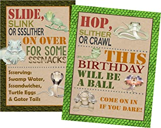 Unique Reptile Themed Birthday Party Supply (Welcome Posters)
