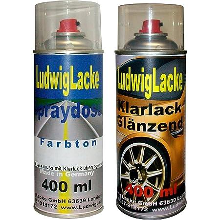 Ludwiglacke Obsidianschwarz 197 Für Mercedes Spraydosen Set Autolack Klarlack Je 400ml Auto