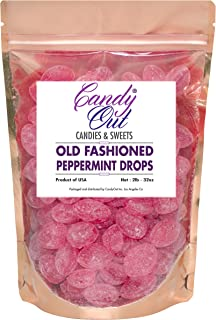 Peppermint Drops 2 Pounds Old Fashioned Hard Candy in CandyOut Sealed Stand Up Bag