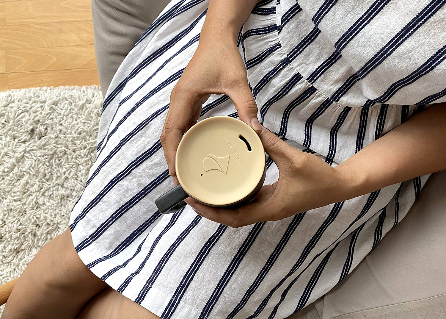 The Universal to-Go Coffee Cup Lid Cappuccino PortaVia