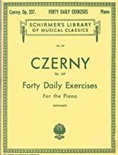 Czerny Forty Daily Exercises Op.337 for the Piano HL 50253080