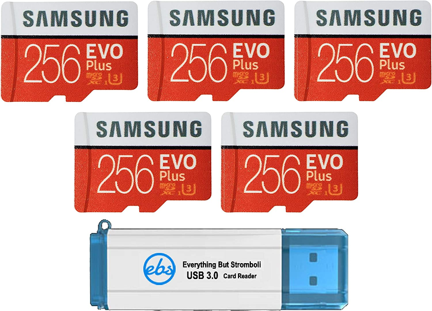 Samsung 256GB famous Evo Plus MicroSD Card We OFFer at cheap prices Pack 5 Class 1 EVO+ Bundle