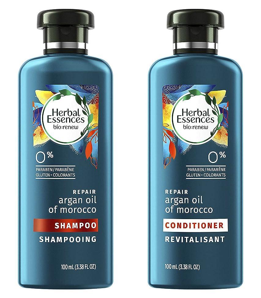 Herbal Essences Bio:Renew Argan Oil Of Morocco Repair Shampoo and Conditioner 3.38 Oz Each Travel Size