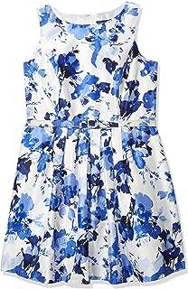 فستان جيسيكا هوارد للنساء مقاس كبير وحزام للخصر