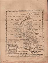 BUCKINGHAM SHIRE DIVIDED INTO ITS HUNDREDS : Containing the City, Borough & Market Towns. Forests, Hills, Rivers, Roads & Distances.