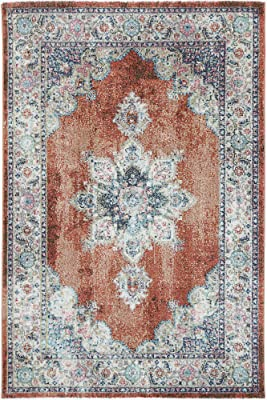 Brand Ventures Brentwood Transitional Rust Rug, 230 cm Length x 160 cm Width