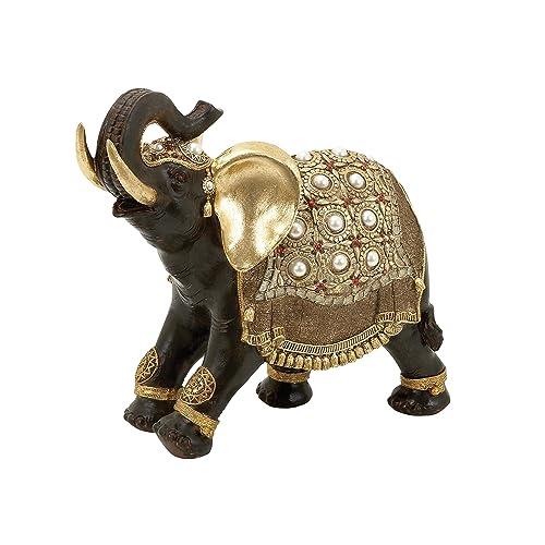 Deco 79 Poly Stone Elephant 16 By 12 Inch