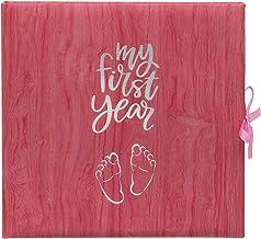 Baby 's My First Year Record - Libro de registro para conmemorar el nacimiento a través de su primer año en la tierra, color rosa