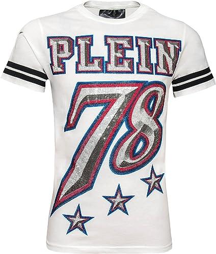 Philipp Plein Cameo MTK0206 01 T-shirt Blanc blanc Homme