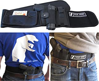 Belly Band Holster for Concealed Carry | Neoprene Waist Band Handgun Carrying System w/Mag Pouch | IWB Holster | Universal Holster for Pistols | Best Retention