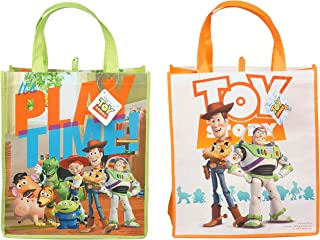 Toy Story 4 Reusable Lr. Sized Tote Bags Featuring Woody And Buzz Lightyear! 2pk