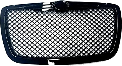 R&L Racing Compatible with Black Mesh Front Hood Bumper Grill Grille Cover Abs R&L Racing FOR 04/05-10 Chrysler 300 300C