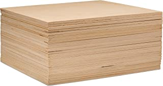 3 mm 1/8 x 10 x 10 Inch Premium Baltic Birch Plywood, Box of 45 B/BB Birch Veneer Sheets, Perfect for Laser, CNC Cutting and Wood Burning and DIY Projects by Woodpeckers